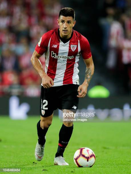 Yuri Berchiche of Athletic Bilbao during the La Liga Santander match between Athletic de Bilbao v Real Sociedad at the Estadio San Mames on October 5...