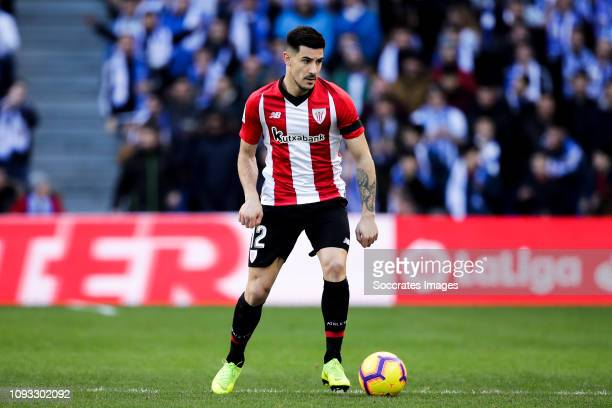 Yuri Berchiche of Athletic Bilbao during the La Liga Santander match between Real Sociedad v Athletic de Bilbao at the Estadio Anoeta on February 2...