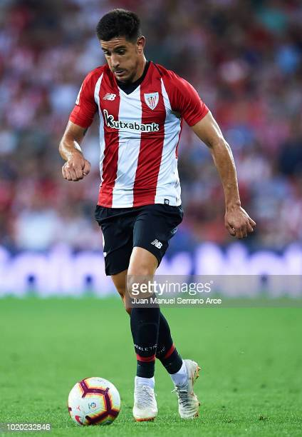 Yuri Berchiche of Athletic Club in action during the La Liga match between Athletic Club and CD Leganes at San Mames Stadium on August 20 2018 in...