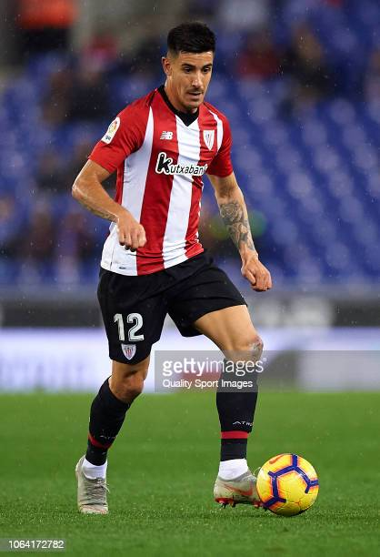 Yuri Berchiche of Athletic Club in action during the La Liga match between RCD Espanyol and Athletic Club at RCDE Stadium on November 5 2018 in...
