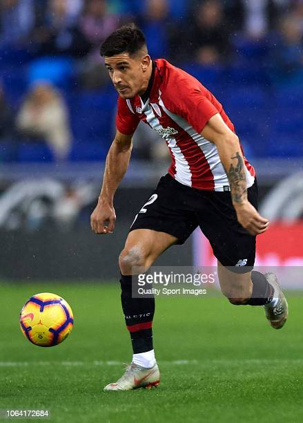 Yuri Berchiche of Athletic Club runs with the ball during the La Liga match between RCD Espanyol and Athletic Club at RCDE Stadium on November 5 2018...