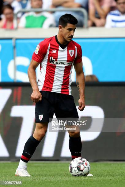 Yuri Berchiche of Bilbao runs with the ball during the third place match between MSV Duisburg and Athletic Bilbao at SchauinslandReisenArena on July...