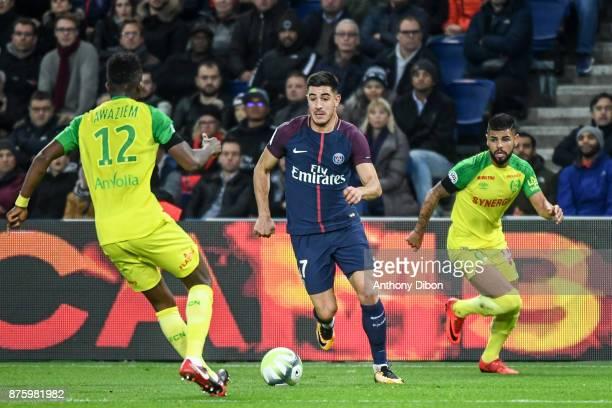 Yuri Berchiche of PSG during the Ligue 1 match between Paris Saint Germain and Nantes at Parc des Princes on November 18 2017 in Paris
