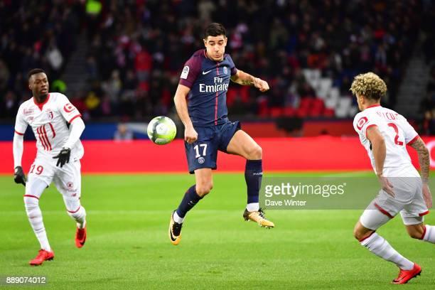 Yuri Berchiche of PSG during the Ligue 1 match between Paris Saint Germain and Lille OSC at Parc des Princes on December 9 2017 in Paris France