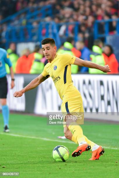 Yuri Berchiche of PSG during the Ligue 1 match between SM Caen and Paris Saint Germain at Stade Michel D'Ornano on May 19 2018 in Caen