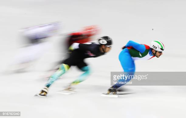 Yuri Confortola of Italy competes in the Men's 1500m Short Track Speed Skating heats on day one of the PyeongChang 2018 Winter Olympic Games at...