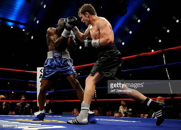 Yuri Foreman of Brooklyn, New York, , lands a punch on