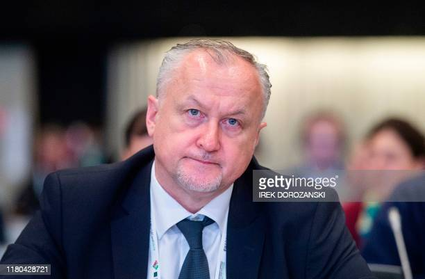 Yuri Ganus, the director general of the Russian antidoping agency, attends a conference of the World Anti-Doping Agency in Katowice, Poland, on...