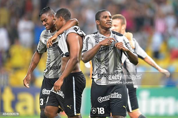 Yuri Mamute of Botafogo celebrates victory after the match between Botafogo and Chapecoense as part of Brasileirao Series A 2014 at Maracana stadium...