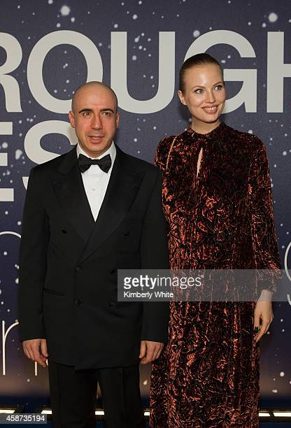 Yuri Milner and Julia Milner attend the Breakthrough Prize Awards Ceremony Hosted By Seth MacFarlane at NASA Ames Research Center on November 9 2014...