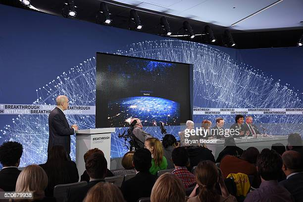 Yuri Milner Breakthrough Prize and DST Global Founder Stephen Hawking CH CBE FRS Dennis Stanton Avery and Sally Tsui WongAvery Director of Research...