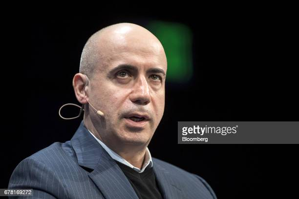 Yuri Milner cofounder of Mailru Group Ltd speaks at the Milken Institute Global Conference in Beverly Hills California US on Wednesday May 3 2017 The...