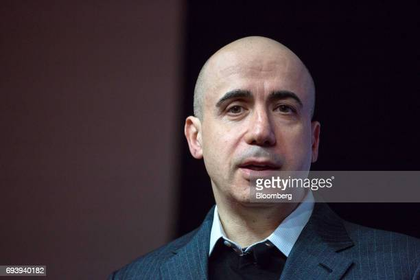 Yuri Milner cofounder of Mailru Group Ltd speaks during the Wall Street Journal DLive Asia Conference in Hong Kong China on Friday June 9 2017 The...