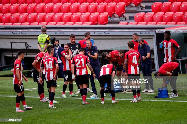 Yuri of Athletic Bilbao Raul Garcia of Athletic Bilbao Dani Garcia of Athletic Bilbao Unai Simon of Athletic Bilbao Ander Capa of Athletic Bilbao...