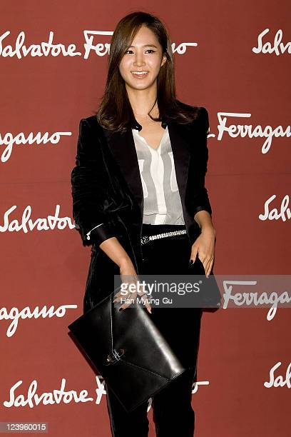 Yuri of Girls' Generation arrives during the Ferragamo Seoul 2011 event, showcasing Salvatore Ferragamo's Autumn/Winter 2011 women and menswear...