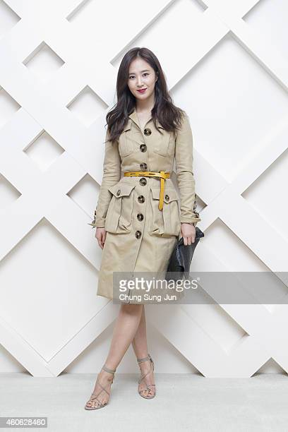 Yuri of Girls Generation wearing Burberry at The Burberry Beauty Box Event on December 18, 2014 in Seoul, South Korea.