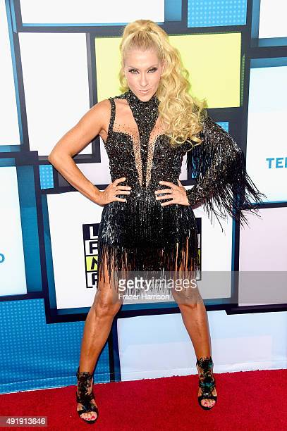 Yuri poses in the press room during Telemundo's Latin American Music Awards at the Dolby Theatre on October 8 2015 in Hollywood California