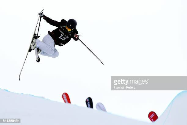 Yurie Watabe of Japan competes in the Winter Games NZ FIS Women's Freestyle Skiing World Cup Halfpipe Finals at Cardrona Alpine Resort on September 1...