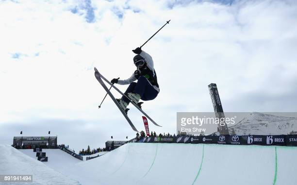 Yurie Watabe of Japan competes in the women's Ski Superpipe qualification during Day 1 of the Dew Tour on December 13 2017 in Breckenridge Colorado