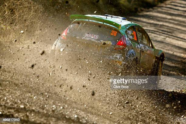 Yurii Protasov of Ukraine driving the Ford Fiesta RRC in action during the Clocaenog Shakedown stage of the FIA World Rally Championship Great...