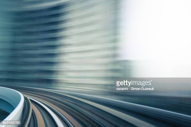 yurikamome high speed - futurism stock photos and pictures