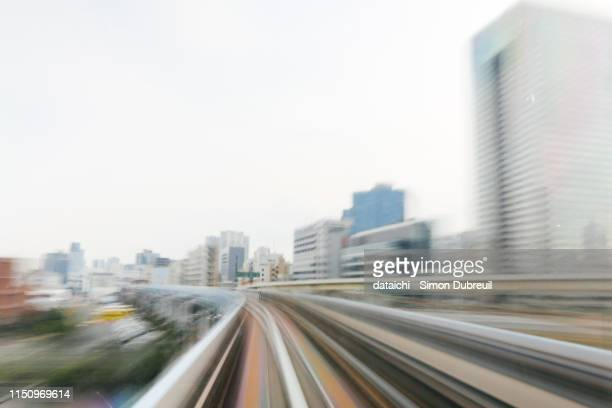 Yurikamome speed train in Tokyo