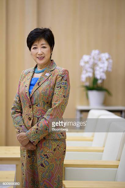 Yuriko Koike governor of Tokyo poses for a photograph in Tokyo Japan on Thursday Sept 8 2016 Koike who ran against her own party to beat a candidate...