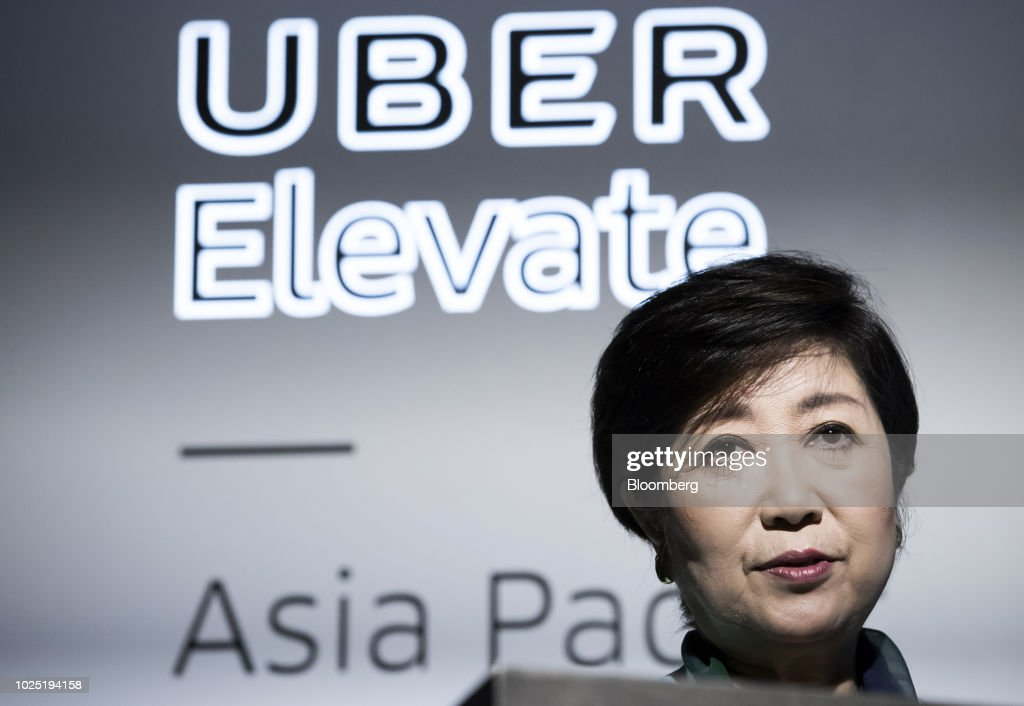 Uber Unveils Model of Take-off and Landing Jet For Its Planned Flying Car Project : News Photo
