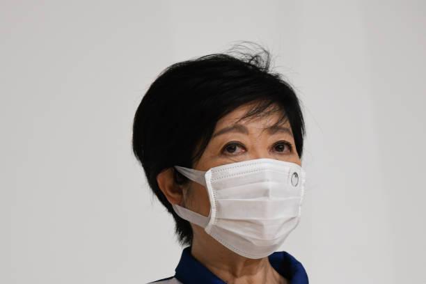 JPN: Tokyo Governor Yuriko Koike Tours Olympic Media Center