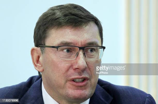 Yuriy Lutsenko, Prosecutor General of Ukraine speaks during a media conference on security measures during the upcoming presidential election, in the...