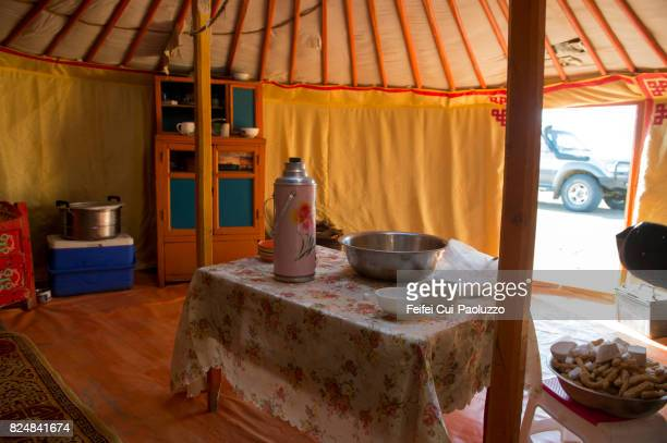 Yurt at Khongoryn Els, in the Gobi Gurvansaikhan National Park in southern Mongolia.