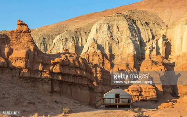 a yurt in utah - yurt stock pictures, royalty-free photos & images