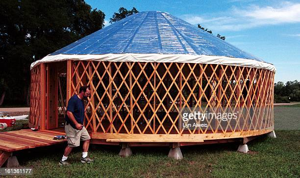 A yurt is being built at the Denver Botanic Garden's Chatfield Nature Preserve by a Montrose company Advance Canvas Dan Kigar President of Advance...