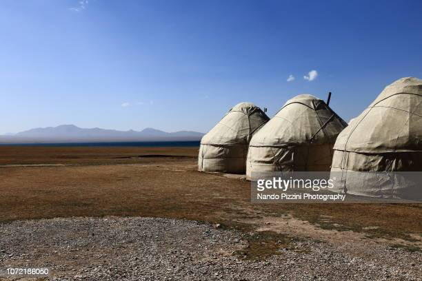 yurts - yurt stock pictures, royalty-free photos & images