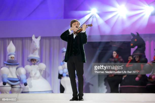 Yury Revich performs on stage during the Life Ball 2017 show at City Hall on June 10 2017 in Vienna Austria