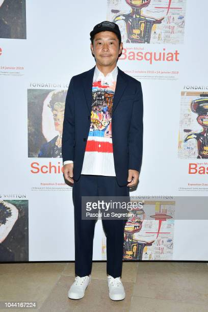 Yusaku Maezawa attends the Opening Of The New Exhibitions JeanMichel Basquiat And Egon Schiele At The Fondation Louis Vuitton at Fondation Louis...