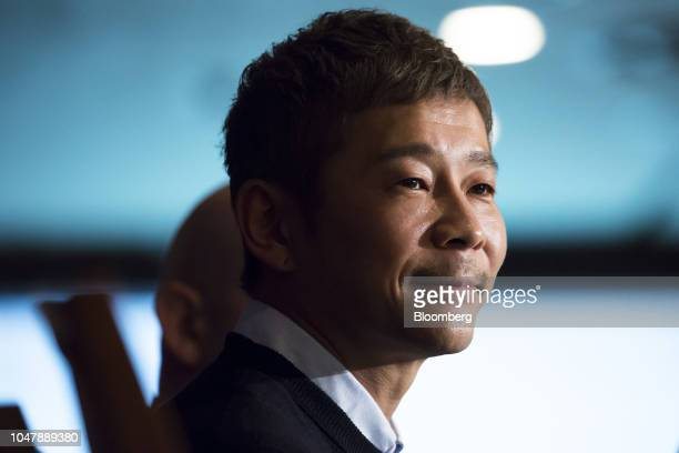 Yusaku Maezawa chief executive officer of Zozo Inc attends a news conference at the Foreign Correspondents' Club of Japan in Tokyo Japan on Tuesday...