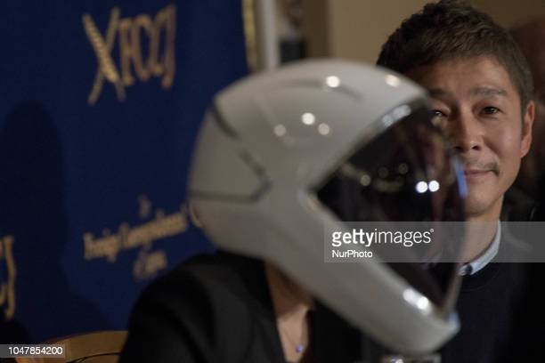 Yusaku Maezawa entrepreneur and CEO of ZOZOTOWN and SpaceX BFR's first private passenger speaks during a press conference at the Foreign...