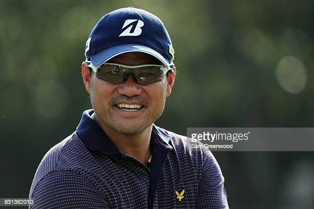 Yusaku Miyazato of Japan during practice rounds prior to the Sony Open In Hawaii at Waialae Country Club on January 9 2017 in Honolulu Hawaii