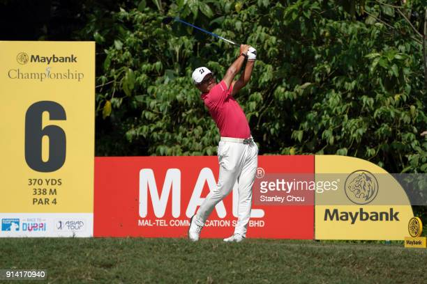 Yusaku Miyazato of Japan in action during day four of the Maybank Championship Malaysia at Saujana Golf and Country Club on February 4 2018 in Kuala...