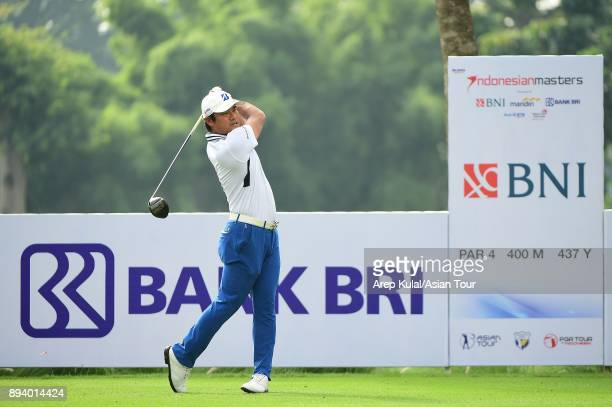 Yusaku Miyazato of Japan pictured during final round of the 2017 Indonesian Masters at Royale Jakarta Golf Club on December 17 2017 in Jakarta...