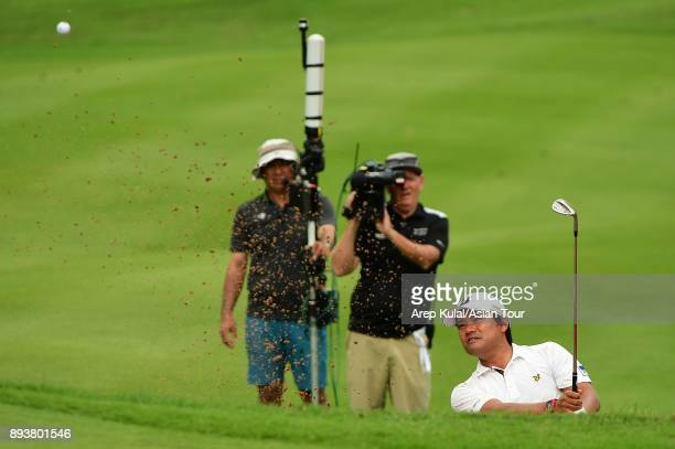 Yusaku Miyazato of Japan pictured during the round three of the 2017 Indonesian Masters at Royale Jakarta Golf Club on December 16 2017 in Jakarta...