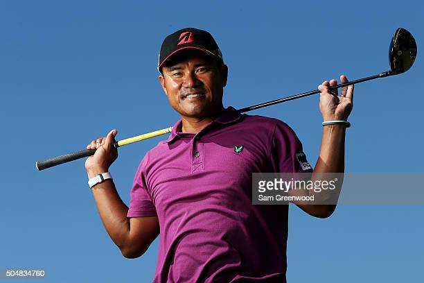 Yusaku Miyazato of Japan poses during the Sony Open In Hawaii ProAm tournament at Waialae Country Club on January 13 2016 in Honolulu Hawaii