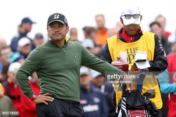 Yusaku Miyazato of Japan waits on the 9th hole during the second round of the 146th Open Championship at Royal Birkdale on July 21 2017 in Southport...
