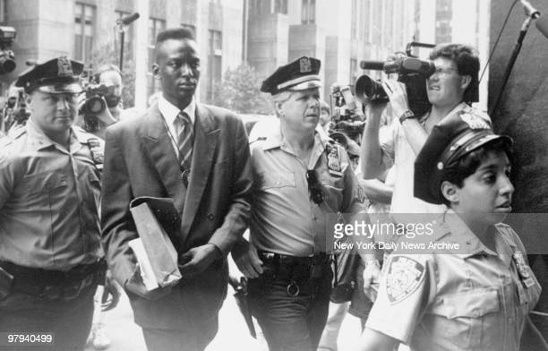 Yusef Salaam accused rapist of a Central Park jogger enters the Manhattan Supreme Court for deliberations