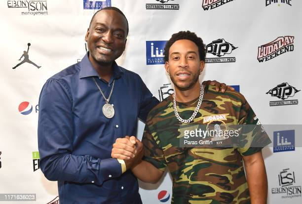 Yusef Salaam and Ludacris attends 14th Annual LudaDay Weekend Celebrity Basketball Game at Morehouse College on September 01 2019 in Atlanta Georgia