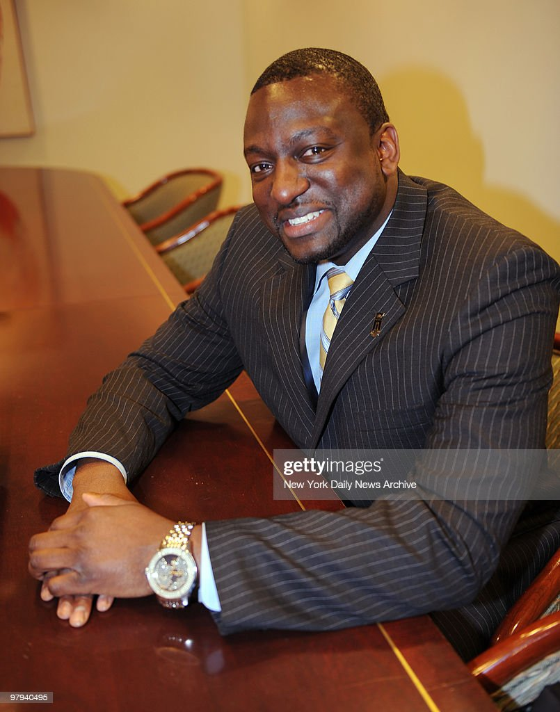 Yusef Salaam exonerated in the Central Park Jogger case from 1989, in the offices of his attorney, Jonathan Moore.