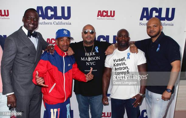 Yusef Salaam Korey Wise Raymond Santana Antron McCay and Kevin Richardson attend the ACLU SoCal's 25th Annual Luncheon at JW Marriott at LA Live on...