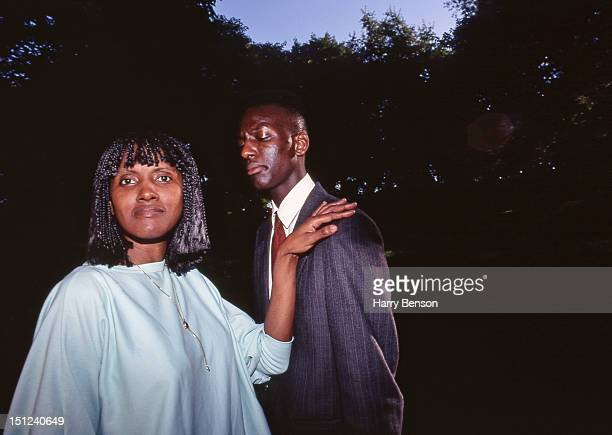 Yusef Salaam who was wrongly accused and convicted of rape in the Central Park jogger trail is photographed with his mother for Life Magazine on...