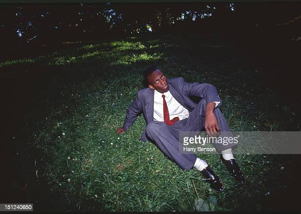 Yusef Salaam who was wrongly accused and convicted of rape in the Central Park jogger trail is photographed for Life Magazine on January 1 1989 in...
